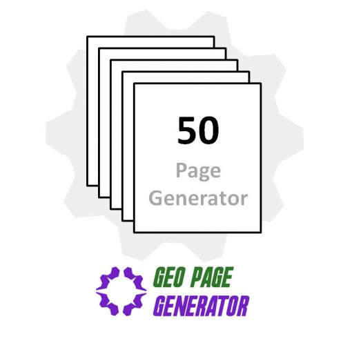 Buy the 50 page geo page generator to create geographic, targeted, city landing pages for your business website.
