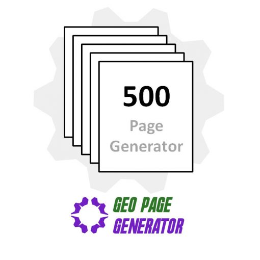 Purchase the 500 page geo page generator to create geographic, targeted, city landing pages for your business website.